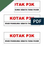 Label Kotak p3k