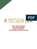 A Chorus Line, Letras de Madrid, España