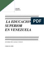 Educacion Superior Venezuela