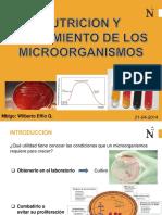Nutricion y Crecimiento Microbiano