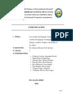 Comu - Los Sonidos Dela Comunicacion, Ciencias de Los Sonidos de Los Lenguajes, Fonologia, Fonetica, Grupos Vocalicos y Consonanticos, La Silaba-1