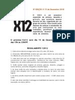 12x12 8ª EDIÇÃOregulamento 2018