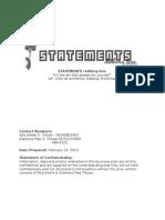 Business Plan- Statements