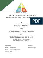 Vocational Training Report 2018