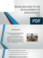 Issues Related to the Development of Adolescence