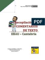 Recopilación de comentarios de texto EBAU (LCL) - Cantabria