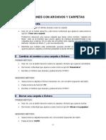 Operaciones para gestionar carpetas y ficheros