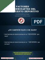 e2 - Factores Determinantes Del Rendimiento Deportivo