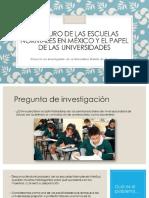 El futuro de las escuelas normales en México y el papel de las universidades