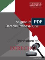 ME Derecho Procesal Civil 7o Lic. Derecho
