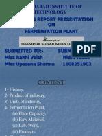 Fermentation plant presentation
