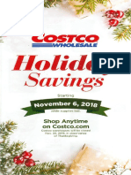 Costco Holiday Savings Nov 2018