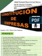 Ponencia Constitución de Empresas