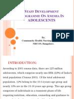 Staff Developmet Programme on Anemia in Adolescence