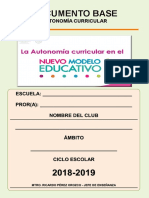 Documento Base Para Un Club