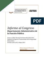 Informe Al Congreso DAFP 2012-2013