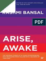 Arise Awake the Inspiring Stories of Youn - Rashmi Bansal