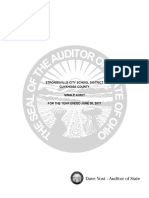 Auditor of State's audit of Strongsville City School District dated June 30th, 2017