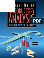 Introductory Analysis A deeper view of Calculus Bagby