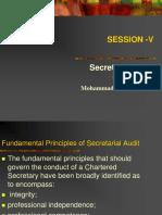 5. Secretarial Audit Guidelines