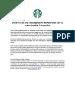 NP - Starbucks Se Une a La Celebración de Halloween Con Su Nuevo Zombie ...