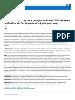 Cartilha Redação Enem 2018