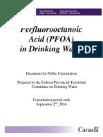 PFOA in Drinking Water (Canada)