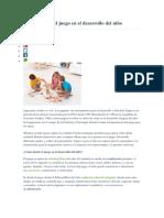 Importancia Del Juego en El Desarrollo Del Niño