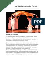 Como Iniciar Un Ministerio de Danza