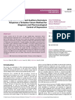 Depressive State and Auditory Brainstem Response a Tentative Future Method for Diagnosis and Pharmacological Control of Depression