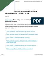 Como corrigir erros na atualização de repositório do Ubuntu e derivados.pdf