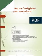 4. Teorema de Castigliano - Armaduras, Vigas, Porticos