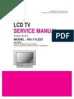 LG LCD RU-17LZ22 Service Manual