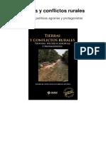 Tierras y Conflictos Rurales - Historia, Políticas Agrarias y Protagonistas