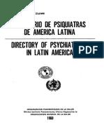 Directoria de Psiquiatras de America Latina