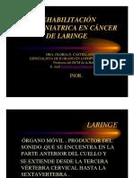 Rehabilitacion Logofoniatrica en Cancer de Laringe