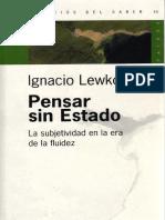 Lewkowicz Pensar Sin Estado