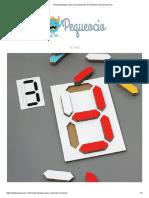 Rompecabezas Casero Para Aprender Los Números _ Pequeocio.com