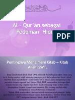 BAB 1. Al Quran Sebagai Pedoman Hidup