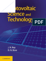 Photovoltaic Science and Technology J.N.rose D.N.bose