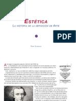 Estética, la historia de la definición de Arte BR