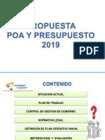 PRESENTACION POA Y PRESUPUESTO 2019 GOBERNACION DEL ESTADOA ANZOATEGUI