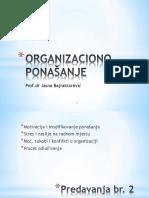Organizaciono Ponašanje- Predavanja Br 2