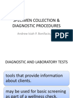 Specimen Collection & Diagnostic Procedures