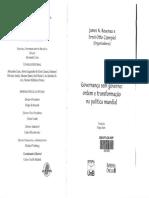Rosenau; Czempiel - Governança Sem Governo