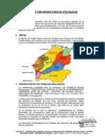 Informe de Recursos Fisicos Utilizados - Parque La Paz