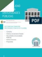 Presentacion Financiacion y Sosteniblidad Universidades Publicas SUE - Julio 2018