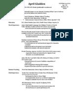 april gladdens resume updated 2018