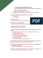 Cuestionario de Derecho Procesal Civil i