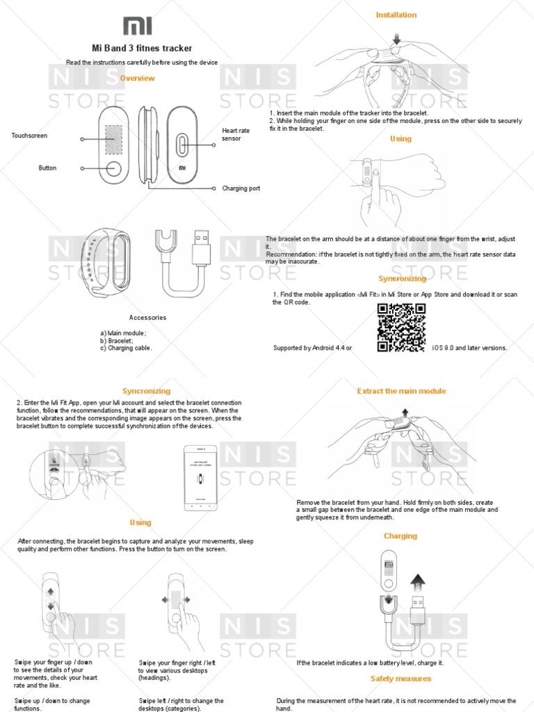 Xiaomi Mi band 3 user manual in English - CGR pdf | Mobile